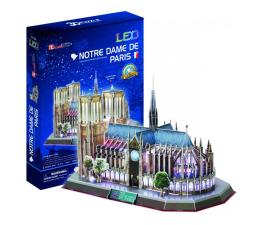 Puzzle do 500 elementów Cubic fun Puzzle 3D Katedra Notre Dame LED