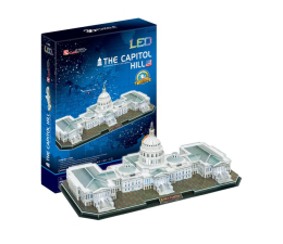 Puzzle do 500 elementów Cubic fun Puzzle 3D Kapitol Led