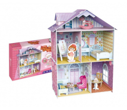 Puzzle do 500 elementów Cubic fun Puzzle 3D Domek dla lalek Mały Artysta XL