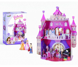 Puzzle do 500 elementów Cubic fun Puzzle 3D Princess Birthday Party
