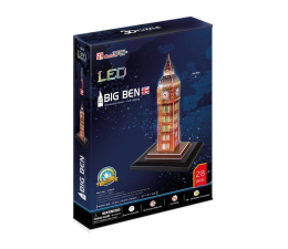 Puzzle do 500 elementów Cubic fun Puzzle 3D Zegar Big Ben Led