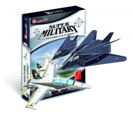 Puzzle do 500 elementów Cubic fun Puzzle 3D Myśliwiec F117 i myśliwiec FA18