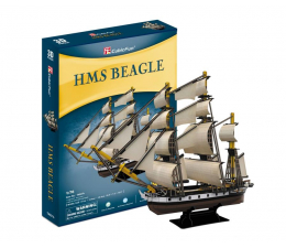 Puzzle do 500 elementów Cubic fun Puzzle 3D Zaglowiec HMS Beagle