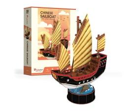 Puzzle do 500 elementów Cubic fun Puzzle 3D Zaglowiec Chinese Sailboat
