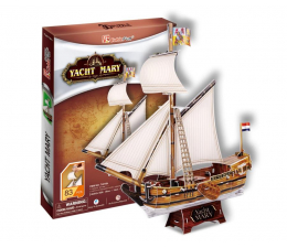 Puzzle do 500 elementów Cubic fun Puzzle 3D Żaglowiec Yacht Mary