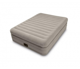 Basen / akcesoria INTEX Duże łóżko dmuchane z pompką 152x203x51cm