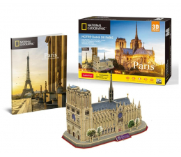 Puzzle do 500 elementów Cubic fun Puzzle 3D National Geographic Notre-Dame
