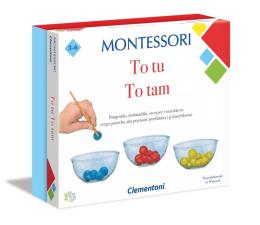 Gra dla małych dzieci Clementoni Montessori To tu, to tam