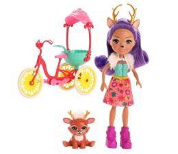Lalka i akcesoria Mattel Enchantimals Wonderwood Danessa Deer na rowerze