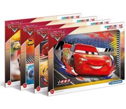 Puzzle dla dzieci Clementoni Puzzle Puzzle ramkowe Super kolor Cars 15 el.