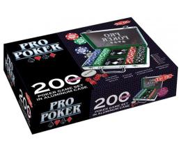 Gra karciana Tactic Pro Poker 200 żetonów w aluminiowej walizce
