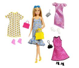 Lalka i akcesoria Barbie Lalka blondynka + imprezowe ubranka