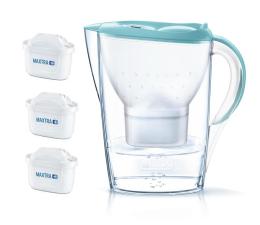 Filtracja wody Brita  Marella Pastelowy Niebieski + 3 wkłady MAXTRA+
