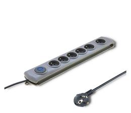 Listwa zasilająca Qoltec Quick Switch - 6 gniazd, 3m