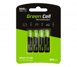 Akumulator uniwersalny Green Cell 4x AAA HR03 800mAh