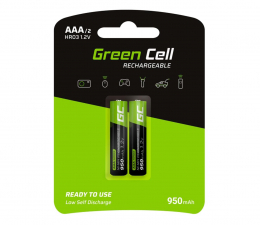 Akumulator uniwersalny Green Cell 2x AAA HR03 950mAh