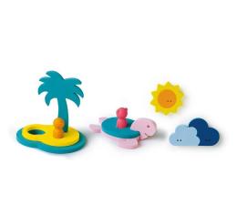 Zabawka do kąpieli Quut Zestaw puzzli piankowych 3D Quutopia Wyspa skarbów