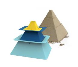 Zabawka do piaskownicy Quut Zestaw 3 foremek do piasku Piramida Pira