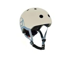 Kask i ochraniacz Scoot & Ride Kask Ochronny XXS-S dla dzieci 1-5lat Ash