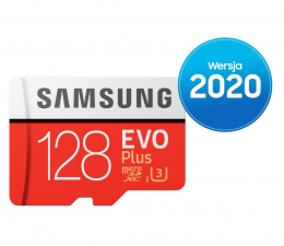 Karta pamięci microSD Samsung 128GB microSDXC Evo Plus zapis60MB/s odczyt100MB/s