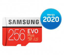 Karta pamięci microSD Samsung 256GB microSDXC Evo Plus zapis90MB/s odczyt100MB/s