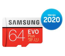 Karta pamięci microSD Samsung 64GB microSDXC Evo Plus zapis20MB/s odczyt100MB/s