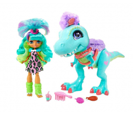 Lalka i akcesoria Mattel Cave Club Lalka Rockelle + Tyrasaurus Zestaw
