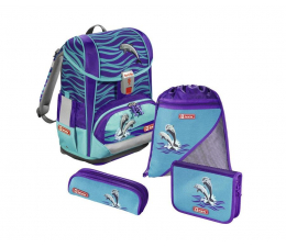 Tornister Step by Step Happy Dolphins 4 Częściowy
