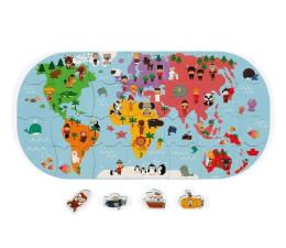 Zabawka do kąpieli Janod Puzzle do kąpieli Mapa świata 28 elementów 3+