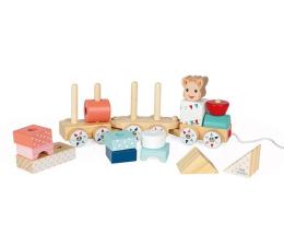 Zabawka edukacyjna Janod Pociąg z klockami do ciągnięcia Żyrafka Sophie