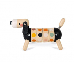 Zabawka edukacyjna Janod Drewniany sorter obrotowy Pies Sweet Cocoon