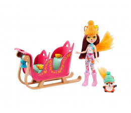 Lalka i akcesoria Mattel Enchantimals Zestaw Zimowe sanie Felicity Fox