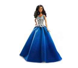 Lalka i akcesoria Barbie Lalka Świąteczna niebieska sukienka