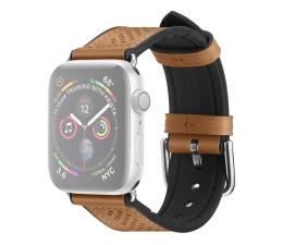 Pasek / bransoletka Spigen Pasek Skórzany Retro Fit do Apple Watch brązowy