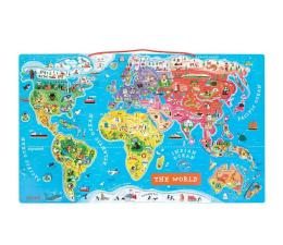 Zabawka edukacyjna Janod Puzzle magnetyczne Mapa świata