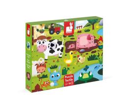 Puzzle dla dzieci Janod Puzzle sensoryczne 20 elementów Farma