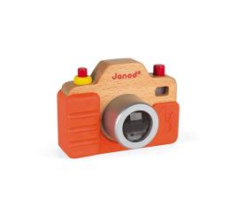 Zabawka edukacyjna Janod Drewniany aparat fotograficzny z dźwiękiem i lampą błyskową