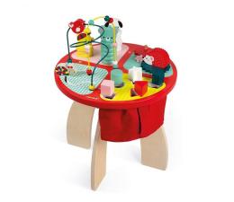 Zabawka edukacyjna Janod Stolik edukacyjny duży drewniany Baby Forest