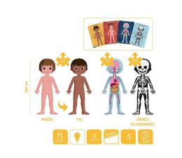 Zabawka edukacyjna Janod Puzzle edukacyjne gigantyczne Ciało człowieka 50, 75 i 100 e