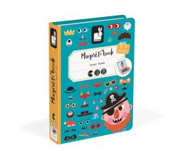 Zabawka kreatywna Janod Magnetyczna układanka Śmieszne buzie Chłopiec Magnetibook