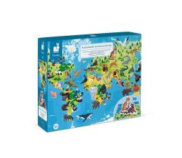 Zabawka edukacyjna Janod Puzzle edukacyjne z figurkami 3D Zagrożone gatunki 200 eleme
