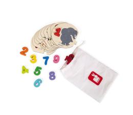 Puzzle dla dzieci Janod Puzzle Uczę się liczyć