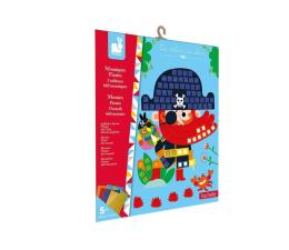 Zabawka plastyczna / kreatywna Janod Zestaw kreatywny Mozaika Piraci 5+