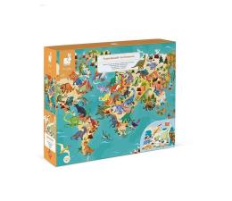 Zabawka edukacyjna Janod Puzzle edukacyjne z figurkami 3D Dinozaury 200 elementów 6+