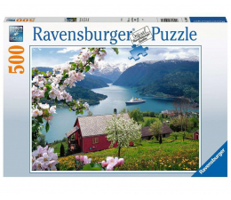 Puzzle 500 - 1000 elementów Ravensburger Puzzle 2D: Skandynawska idylla 500 elementów