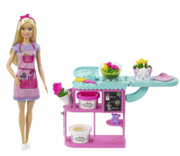 Lalka i akcesoria Barbie Kariera Kwiaciarnia + Lalka