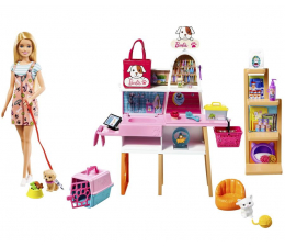 Lalka i akcesoria Barbie Sklepik - salon dla zwierzaków