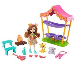 Lalka i akcesoria Mattel Enchantimals Biwak na sawannie Zestaw i Lalka