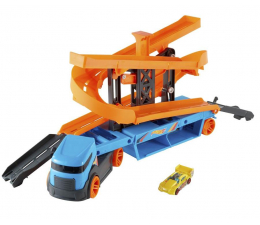 Pojazd / tor i garaż Hot Wheels City Transporter – Tory zjazdowe 2w1