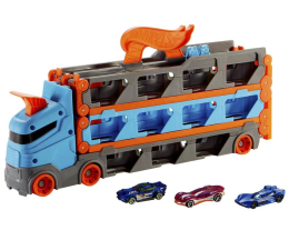 Pojazd / tor i garaż Hot Wheels City Wyścigowy transporter 2w1